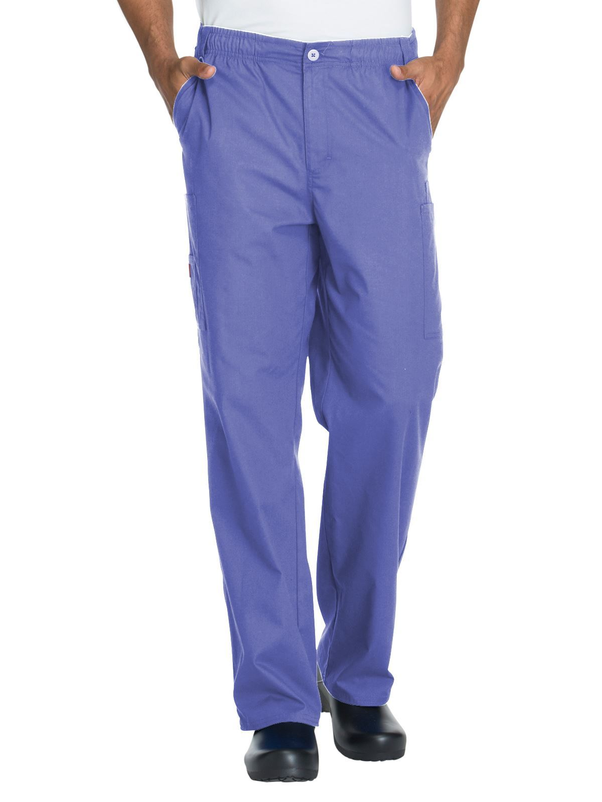 07dad25f3e5 Dickies EDS Signature Men's Zip Fly Pull-On Pant -Ceil Blue [Men's ...